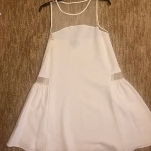 White Cynthia Rowley dress with sheer side panels